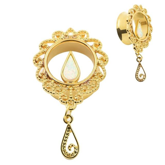 Gold Plated Surgical Steel Plugs Tunnels