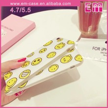 Hot Selling TPU smiling face Case Cover for iphone5/6/6plus