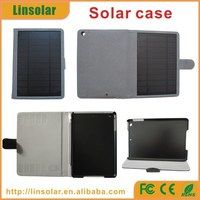 New Products 2015 Leather Case Solar Power Bank 6000 for ipad mini