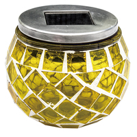 Sellers Garden Lights With Glass And Mosaic Type Solar Sun Jar Lamp Series Small Solar Mosaic Ball Lights