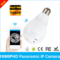 2 Megapixels 360 Degree Fisheye Panoramic Network Wireless Camera LED Bulb Smart Home Security Camera