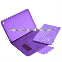 Detachable Wireless Bluetooth Keyboard w/ Leather Case Cover Stand for iPad Mini