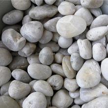 Super White polished pebbles stone for landscaping