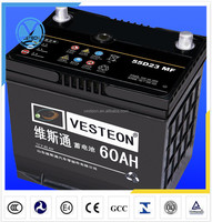 High Performance 12V rechargeable MF car battery DIN43 auto battery 54317MF