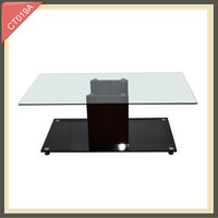 glass touch screen coffee table / coffee table fish tank