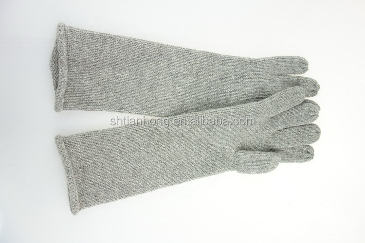 China supplier manufacture useful fluorescent string knit gloves