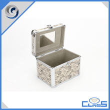 latest custom wood veins professtional aluminum cosmetic case vanity case