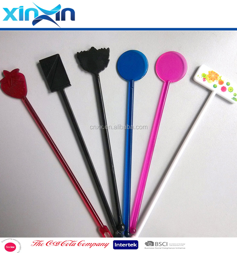 Bar Party Plastic Drink Stirrer Swizzle Sticks