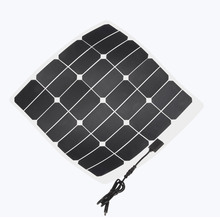 PET or ETFE laminated Semi-flexible sunpower cell 50w solar panel