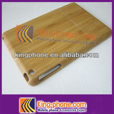 simple design bamboo phone case, 100% natural bamboo cover for iPad mini