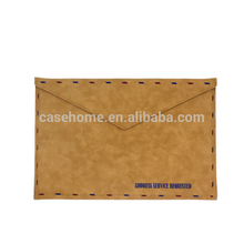 Stock leather sleeve for iPad macbook air retro envelope pouch 13' leather bag