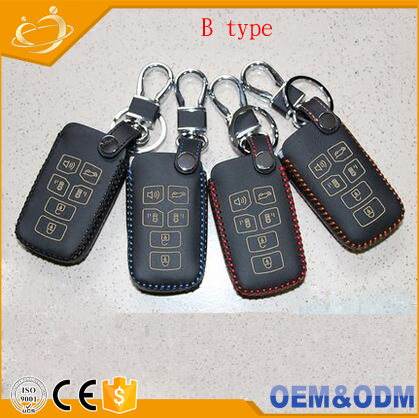 Handcraft leather car key cover 6 Buttons Remote Key Wallet Bag For Toyota Sienna 2010 - 2017