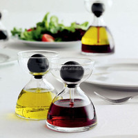 factory price high quality customized glass olive oil & vinegar curet dispenser for cooking dipping with meat fish salad