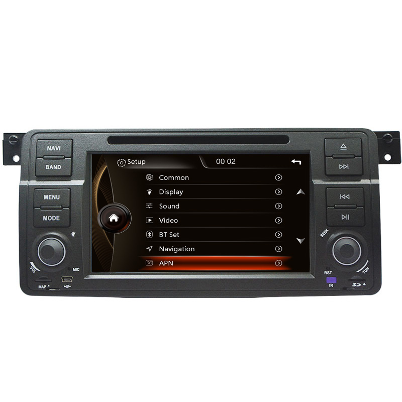 "7"" HD Capacitive Touch Screen Car DVD Player GPS Navigation for BMW E46 M3 GPS Bluetooth Radio RDS USB IPOD with Original BMW UI"