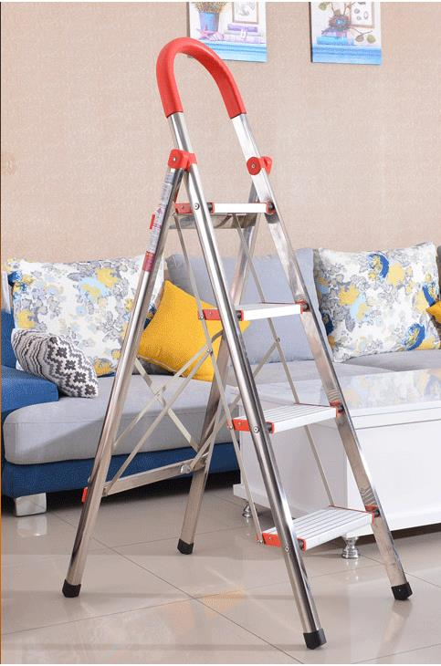 3 Section Extension Aluminum Ladder,foldable easy store step ladder