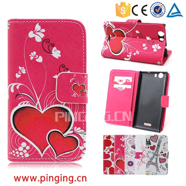 Alibaba Wholesale Magnet Leather Case for ZTE Grand X2, for ZTE Grand X2 Mobile phone accessory