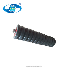 Small rotation resistance bulk aluminum construction machine impact idler roller