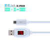 Visible LED Blue light Micro USB Plug Charging Data Sync Cable Color for Galaxy