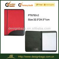 2016 custom a4 cheap padded portfolio folder/leather folder