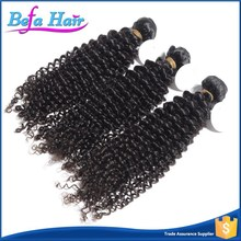 high quality 6a grade unprocessed malaysian afro kinky curl sew in hair weave