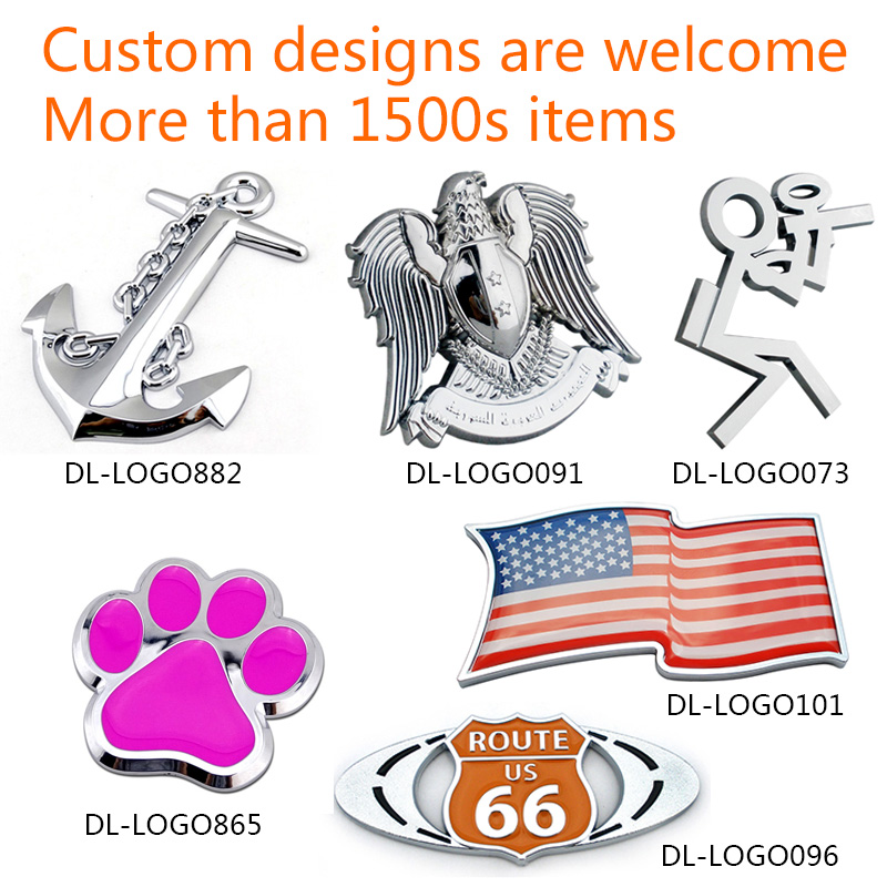 Automotive wholesale 3D plastic ABS chrome auto logo badge make your own unique custom car emblem
