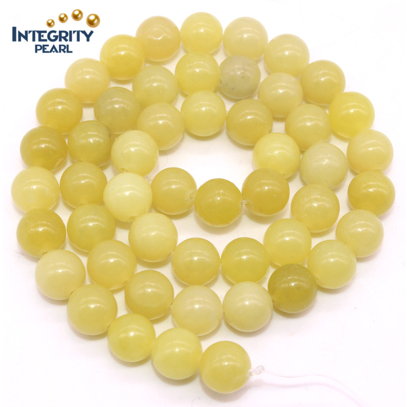 Hot-selling new arrival natural gemstone loose strand 4 6 8 10 12mm natural lemon jade stone rough