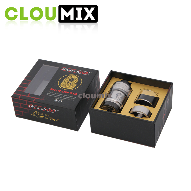 genuine Pharaoh RTA atomizer Digiflavor Pharaoh RTA clearomizer kit Includes a oil expansion tube to increase capacity