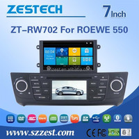 ZESTECH high -tech and screen touch Car radio player for ROEWE 550 car radio player with GPS BT 3G DVD STEERING WHEEL CONTROL
