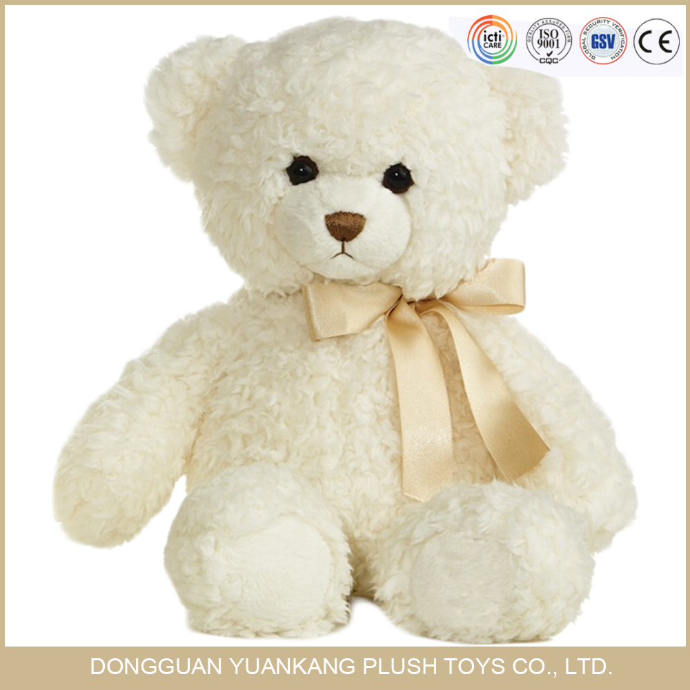 Direct Manufacturer with ICTI certificate plush white soft teddy bear toy