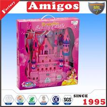 nice present castle with light music villa toy for child