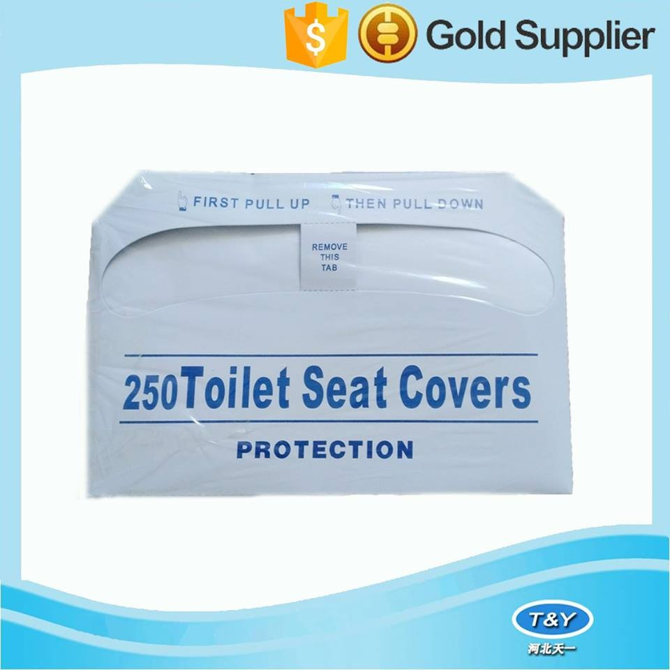 10pcs Wallet pack Eco-friendly Disposable travel Toilet Seat Cover paper