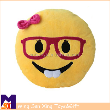 Emoji Mini Stuffed Plush Toy Emoticon Throw Pillow Cushion