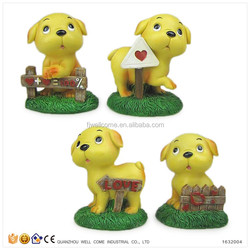 Cheap Handmade Valentine Gift Resin Dogs and Puppies for Sale