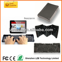 travel foldable keyboard,mini bluetooth wireless folding keyboard for pc laptop/tablet pc