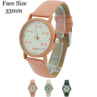 2015 China factory wholesale candy Geneva Platinum Bow Tie Print Leather Watch