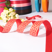 Hot sale high quality polyester leopard print ribbon for garment cccessories