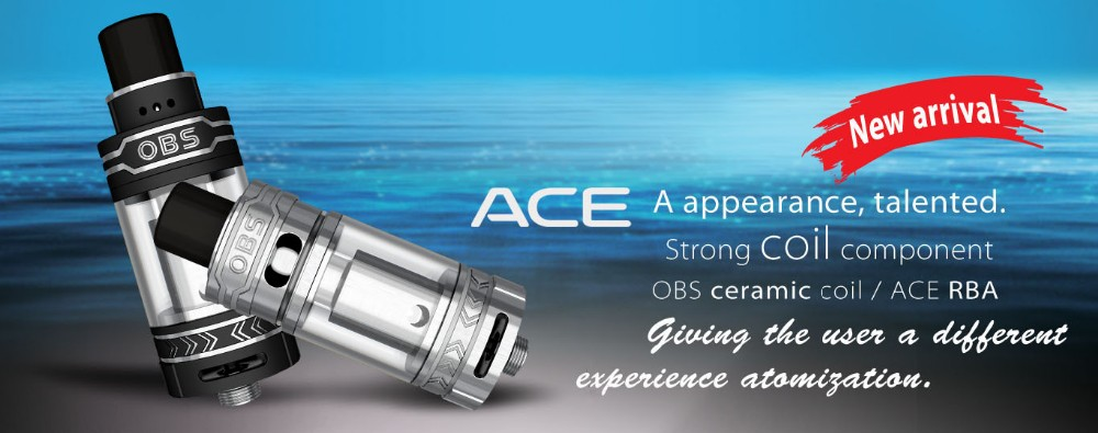 2016 Newly Released OBS Sub Ohm Tank ACE Tank OBS Crius RTA Wholesale
