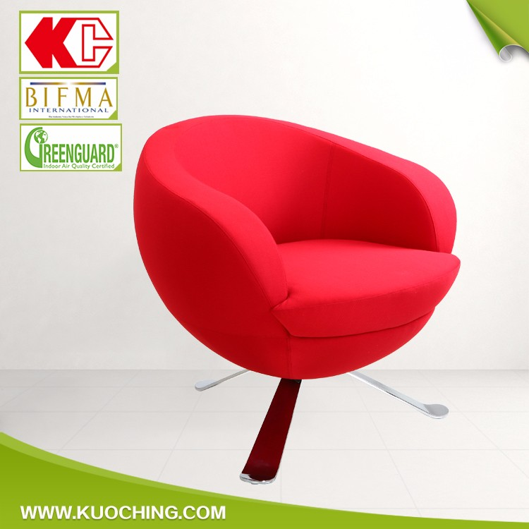 Stylish Swivel Fabric Round Oval Egg Chair