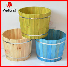 Wooden Flower Pots Garden Planter Barrels