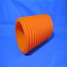 Hot sale Single Wall red corrugated plastic protection pipe