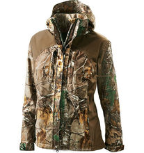 Wholesale women Camouflage hunting rainwear jacket