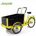 three electric cargo bike for family