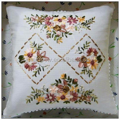New Arrival jacquard ribbon handmade embroidery cushion cover wholesale 45x45