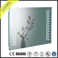 luxury wall mount contemporary frameless design led lights smd illusion infinity bathroom mirror for vanity