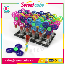 Hot Sell finger Spinner Candy Toy with candy tube
