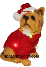 POLY Dog With Light christmas decoration Chiwawa, Dachshund