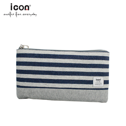 Wholesale modern knitted fabric school folding pencil case for boys