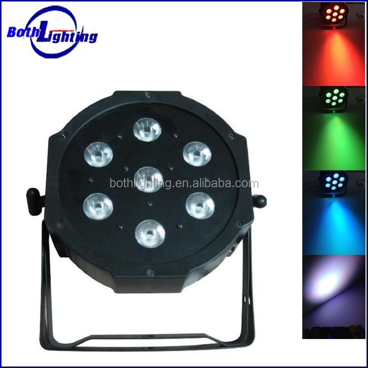 7x10W LED par RGBW 4 in 1 quad-color LED mini Par Can Light