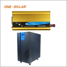Hot sales12vdc 24vdc high frequency modified sine wave hybrid solar inverter with 30A PWM solar controller inverter