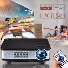 2018 newly upgrade high lumens portable large screen home theater cinema projector